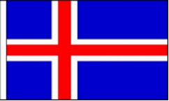 Iceland Hand Waving Flags
