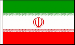 Iran Hand Waving Flags