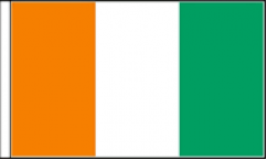 Ivory Coast Hand Waving Flags