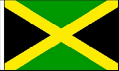 Jamaica Hand Waving Flags