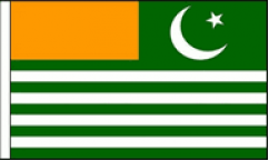 Kashmir Hand Waving Flags