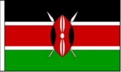 Kenya Hand Waving Flags