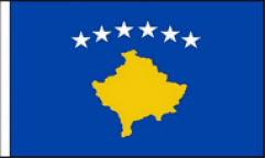 Kosovo Hand Waving Flags