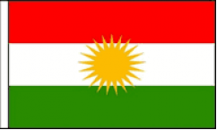 Kurdistan Hand Waving Flags
