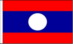Laos Hand Waving Flags