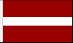 Latvia Hand Waving Flags