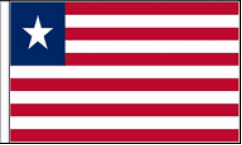 Liberia Hand Waving Flags