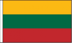 Lithuania Hand Waving Flags