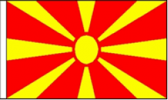 Macedonia Hand Waving Flags