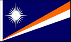 Marshall Islands Hand Waving Flags