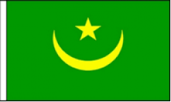 Mauritania Hand Waving Flags