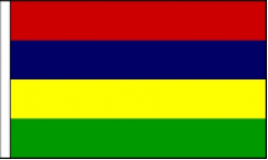 Mauritius Table Flags