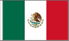 Mexico Hand Waving Flags