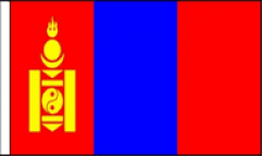 Mongolia Hand Waving Flags