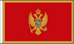 Montenegro Hand Waving Flags