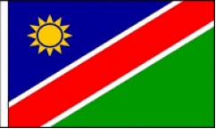 Namibia Hand Waving Flags