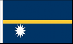 Nauru Hand Waving Flags