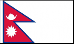 Nepal Hand Waving Flags