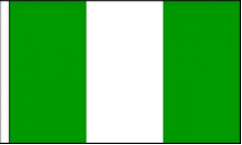Nigeria Hand Waving Flags