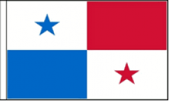 Panama Hand Waving Flags