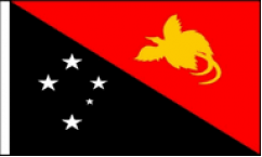 Papua New Guinea Hand Waving Flags