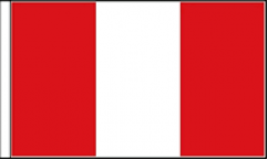 Peru Table Flags