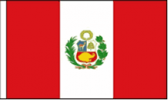 Peru Hand Waving Flags