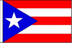 Puerto Rico Hand Waving Flags
