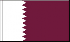 Qatar Hand Waving Flags