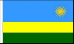 Rwanda Table Flags