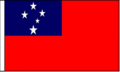 Western Samoa Hand Waving Flags