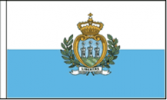 San Marino Hand Waving Flags