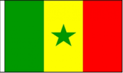 Senegal Hand Waving Flags