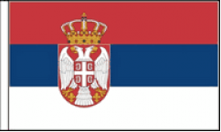 Serbia Hand Waving Flags