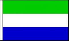 Sierra Leone Hand Waving Flags