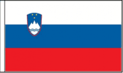 Slovenia Hand Waving Flags