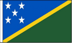 Solomon Islands Hand Waving Flags