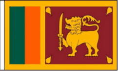 Sri Lanka Hand Waving Flags