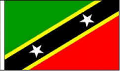 Saint Kitts and Nevis Hand Waving Flags