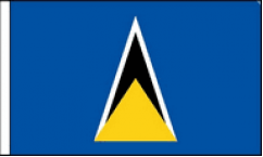 Saint Lucia Hand Waving Flags