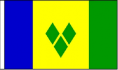 Saint Vincent Hand Waving Flags