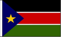 South Sudan Hand Waving Flags