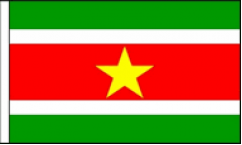 Suriname Hand Waving Flags