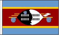 Swaziland Hand Waving Flags
