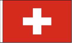 Switzerland Hand Waving Flags