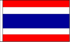 Thailand Hand Waving Flags