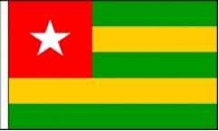 Togo Hand Waving Flags