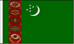 Turkmenistan Hand Waving Flags