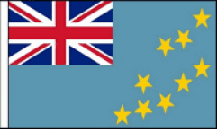 Tuvalu Hand Waving Flags