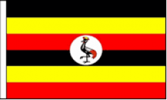 Uganda Hand Waving Flags